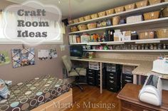 Oh my goodness! This craft room and it's organizing are amazing! Love it!