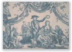 France: This 1760 blue toile piece is by famous printer Christophe-Phillippe Oberkampf.