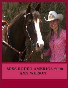 Miss Rodeo America with a tack set that I made and was presented to her at coronation.