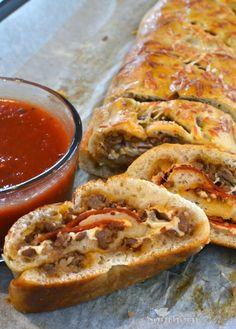 Sausage & Pepperoni Stromboli