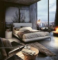 Big windows. Big city. If your dreams don't scare you, they're not big enough. #goodnight #biglightswillinspireyou