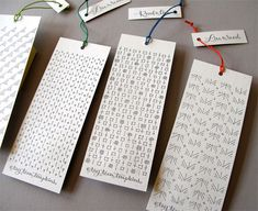 Tag Team Tompkins letterpress bookmarks seen on Paper Crave