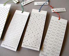Tag Team Tompkins letterpress bookmarks seen on Paper Crave