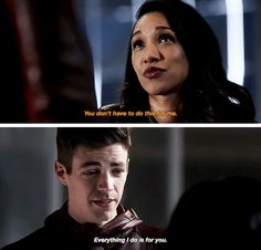 "#TheFlash 3x13 ""Attack on Gorilla City"" - ""Everything I do is for you"" - #BarryAllen #IrisWest"