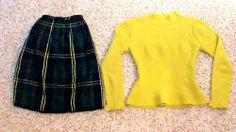 •Yellow Crop Sweater: Vintage (Good Will) •Tartan Skirt: Altered jcpenney dress