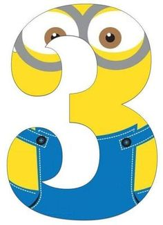Minion printable party banner: numbers and alphabet a-z Minion Mask, Minion Theme, 3 Minions, Minion Birthday Banner, 3rd Birthday Parties, Birthday Party Decorations, Minion Classroom, Minion Craft, Learn To Count