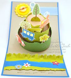 Artisan Award 3D PopUp Cake Die by mtech - Cards and Paper Crafts at Splitcoaststampers