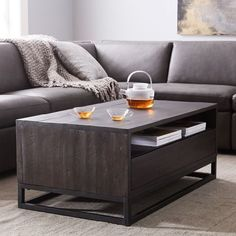 Logan Industrial Storage Coffee Table