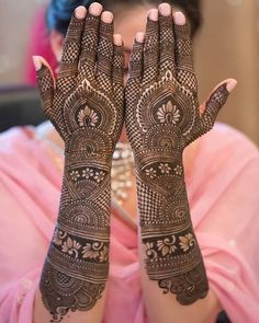 If you are looking for bridal mehndi designs for your wedding, then check out these top 30 mehandi images for some inspiration. Right from a simple mehndi design to an elaborate bridal henna design, you'll find it in here! Henna Hand Designs, Traditional Mehndi Designs, Mehndi Designs Finger, Latest Bridal Mehndi Designs, Indian Henna Designs, Full Hand Mehndi Designs, Mehndi Designs For Girls, Mehndi Design Photos, Wedding Mehndi Designs