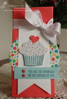 Stampin' & Scrappin' with Stasia 2015-16 Stampin' Up! catalog Sprinkles of Life, Cherry on Top Designer Series Paper, Triple Banner Punch