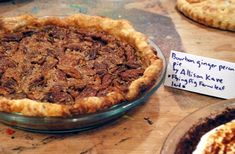 THIS IS THE BEST PIE I'VE EVER HAD IN MY LIFE.  Will And I Tried It At Brooklyn Smorgasburg.  Highly Reccommend This First Prize Bourbon Ginger Pecan Pie ~ Good Food