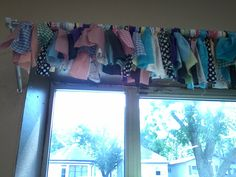No sew valance/ Stash buster/ Recycle project
