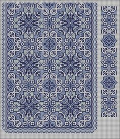Beading _ Pattern - Motif / Earrings / Band ___ Square Sttich or Bead Loomwork ___ Gallery. Cross Stitch Borders, Cross Stitch Designs, Cross Stitching, Cross Stitch Embroidery, Embroidery Patterns, Cross Stitch Patterns, Knitting Stitches, Knitting Designs, Graph Design
