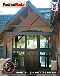 Custom front porch with Custom Cedar parts form Pro Wood Market