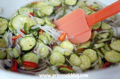 """When my neighbor, Kathy, called and asked me for a good freezer pickle recipe I said, """"can you freeze pickles?"""" She laughed and said """"I hope so! I have waaaay too many cucumbers b…"""