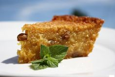 Cassava Pone, a wonderful baked treat from the Caribbean.