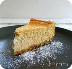 Amerikanischer Cheesecake mit Süßkartoffelpürree. Herrlich cremig!