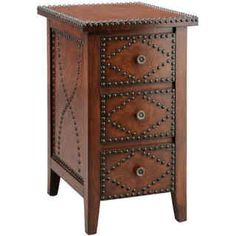 Evanston Chairside Chest | Overstock.com Shopping - Great Deals on Coffee, Sofa & End Tables