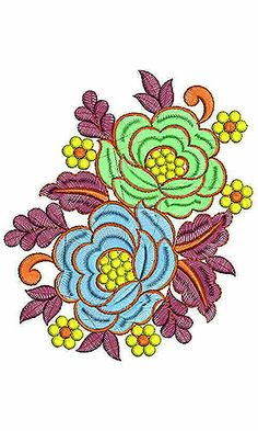 Red Rose Floral Boutique Embroidery Design