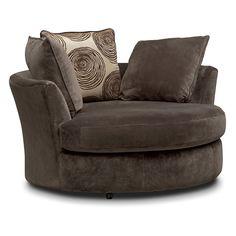 Cordelle Swivel Chair   Chocolate