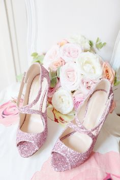 Tara Jarmon glitter heels