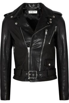leather biker jacket perfection... This is my idea style and cut. I want!!