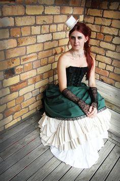 35 Unique Steampunk Wedding Gowns | HappyWedd.com
