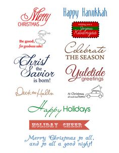 Holiday Sentiments #free #download #Holiday #Christmas