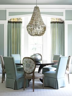 beautiful dining room....but i'm looking at the drapes...love them.