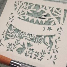 Working on a woodland themed, personalised papercut for a new baby Woodland Animal Nursery, Paper Cut Design, Design Inspiration, Design Ideas, Bee Design, Papercutting, Christening Gifts, Unique Cards, Cuttings