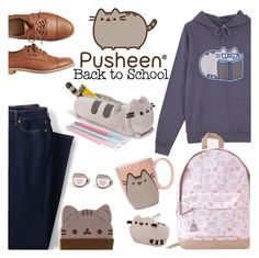 """#PVxPusheen"" by chey-love ❤ liked on Polyvore featuring Lands' End, Pusheen and Gap"