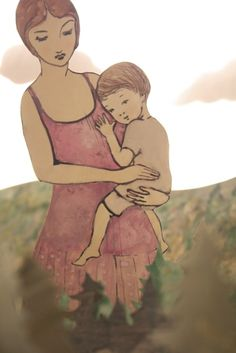When she held her child, she could walk through the forest, eyes high above the treetops. Elly Mackay