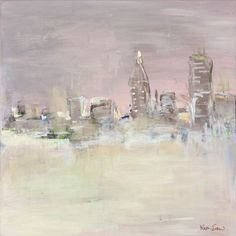 abstract cityscape by Kinka Snow  #abstractpainting