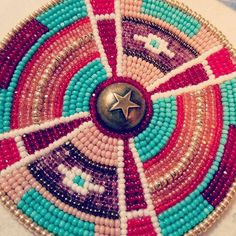 My Friday night/Saturday morning work flow feels good to feel good beading again... starting out slowly. Love those Rosettes any day