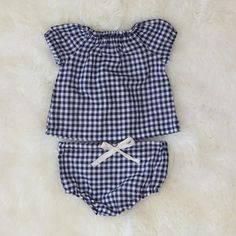 gingham cap sleeve top and matching bloomers from mabo kids