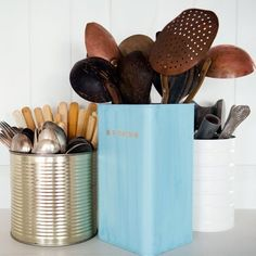 It& time to stop the madness of the crazy kitchen disorder and fight back with these 20 creative ways to keep it organized. Utensil Drawer Organization, Kitchen Utensil Organization, Kitchen Utensil Holder, Organization Hacks, Kitchen Storage, Kitchen Utensils, Organizing Tips, Crazy Kitchen, Diy Kitchen