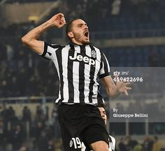 Leonardo Bonucci of Juventus FC celebrates the...