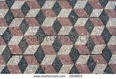 Mosaic Tile in Cube Pattern
