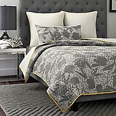 image of Vince Camuto Berlin Abstract Flowers Reversible Coverlet