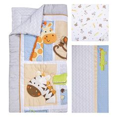 Have a wild time with the Trend Lab Jungle Fun 6 Piece Crib Bedding Set . Made from cotton, this bright and cozy set features textural animal. Baby Crib Bedding Sets, Bedding Shop, Linen Bedding, Bed Linens, Comforter, Soothing Colors, Soft Colors, Best Crib, Crib Mattress