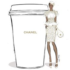 I want to sail away with a giant coffee from #CHANELCruise today... #MeganHessCoffeeGirls