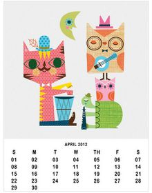 Free owl customizable calendar!