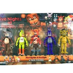 """FNAF Five Nights At Freddy/'s Pizza Simulator 5.5/"""" Action Figures Game Toys 6 pcs"""