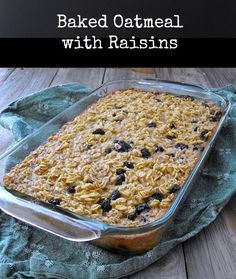I think I'll try this with chopped apples! YUM! | Baked Oatmeal from Frugal Antics of a Harried Homemaker