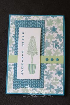 Stampin Up, Vertical Greetings, Blooms and Bliss Designer Series Paper