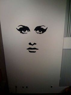 DIY Vinyl wall art supply list and instructions. You may not like this design but think of the possibilties. Apartment dwellers this does not damage the walls