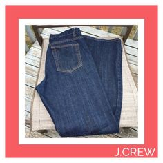 """J.Crew dark wash bf jeans , great condition! 10x33"""" also have in size 14 J. Crew Jeans"""