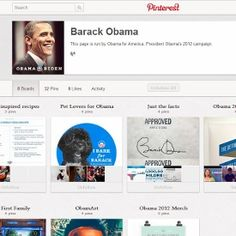 President Obama Joins Pinterest  -- March, 2012