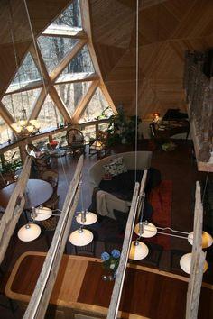 Bear Creek Geodesic Dome House  / Domos Geodesicos y sus Nudos colección Ariatnis
