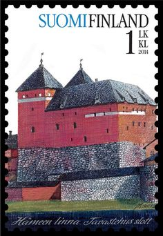 Häme Castle on Finnish stamp Helsinki, Castle Pictures, Postage Stamp Art, World 2020, Medieval Castle, Fauna, Mail Art, Stamp Collecting, Tove Jansson